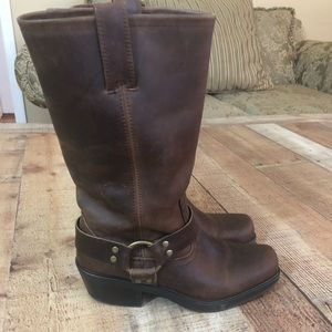 Mossimo western Brown Leather Cowboy Boots size 8